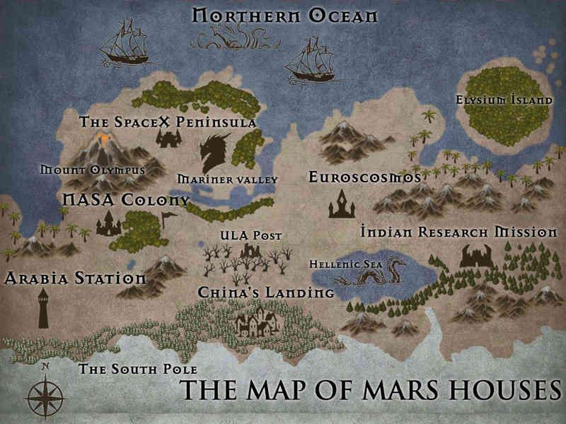 Fictional Map of Mars