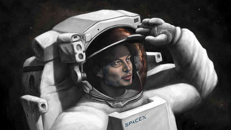 Sketch of Elon Musk