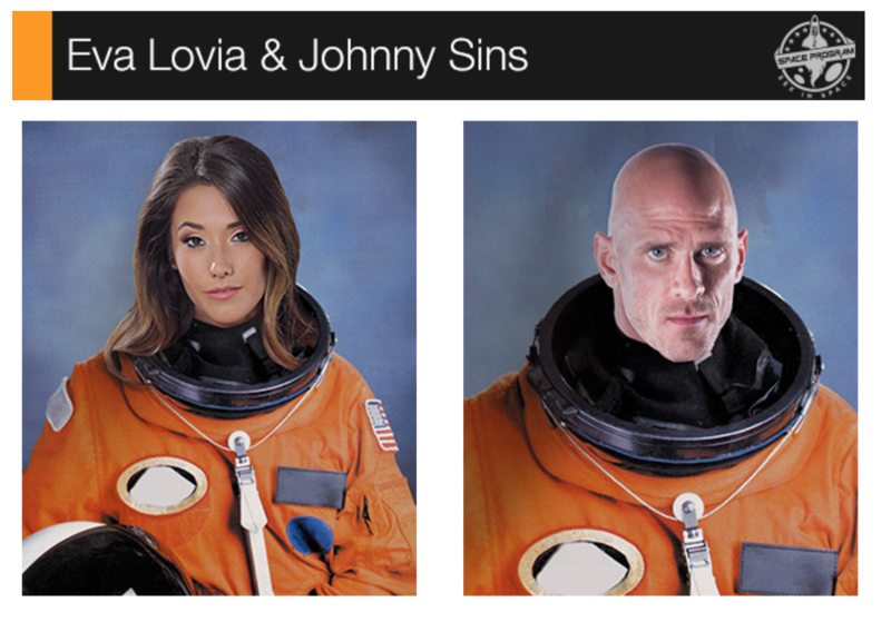 Eva Lovia and Johnny Sins
