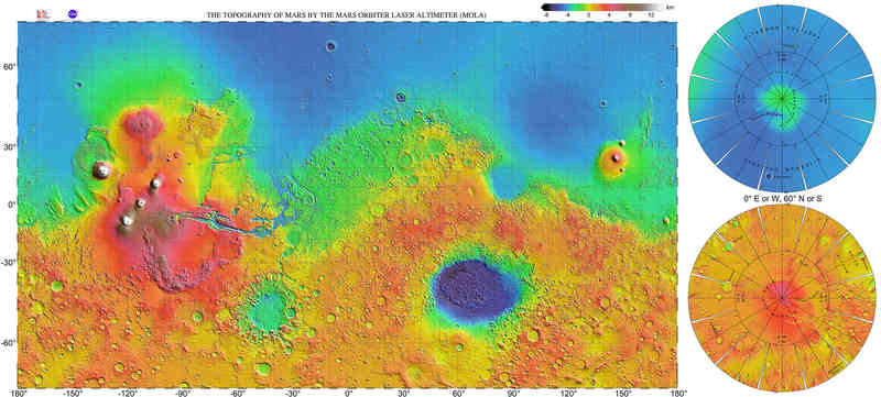 Mars Global Surveyor Map