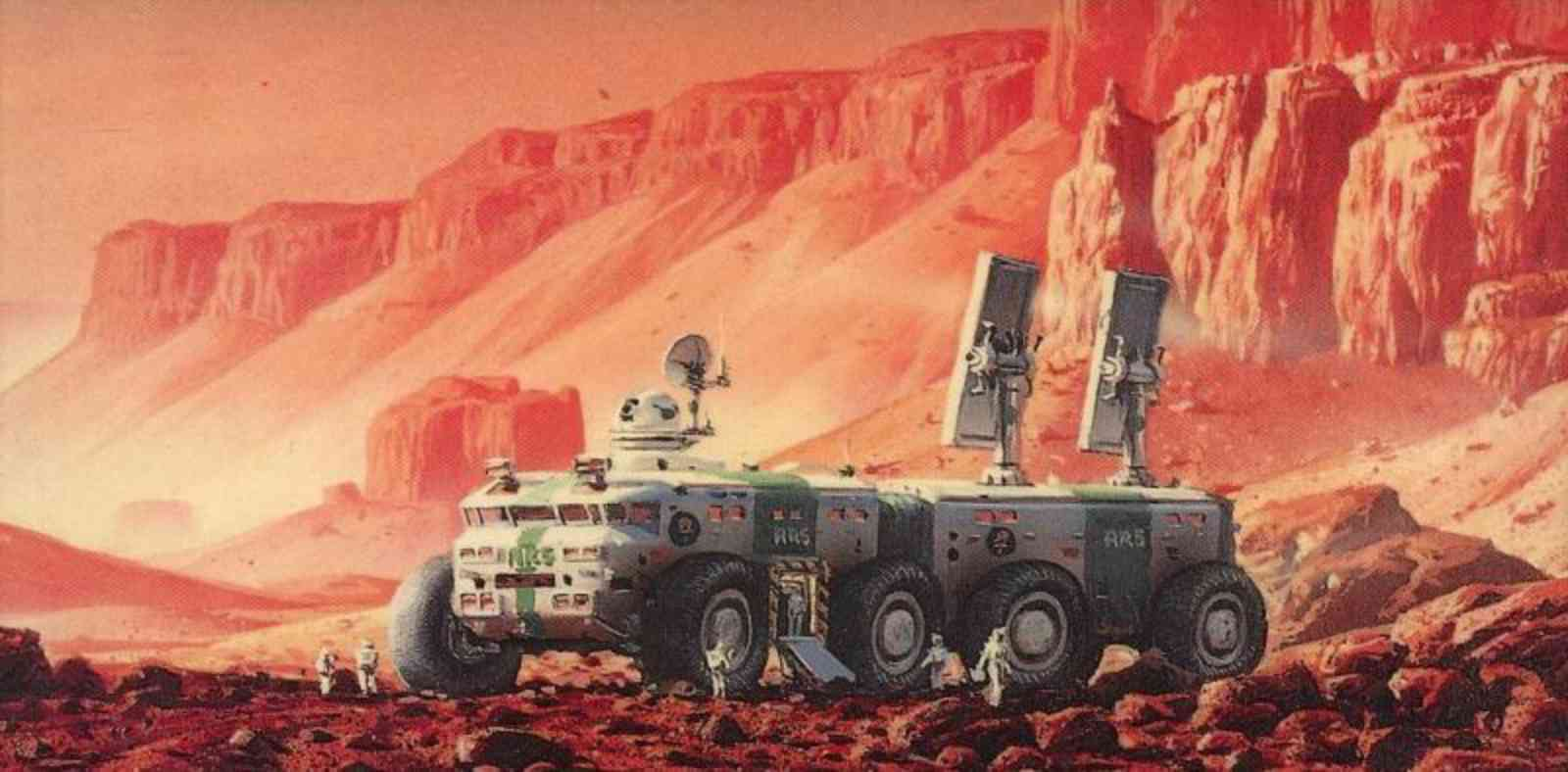 """Art from the cover of Red Mars. """""""